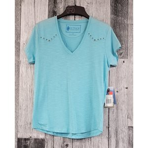 STACEY T SHIRT OUTBACK TURQUOISE