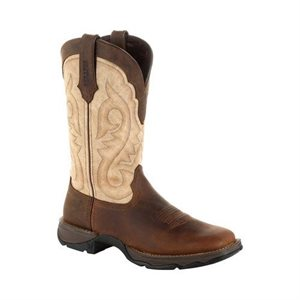 LADIES WESTERN BROWN / TAUPE ROCKY BOOTS