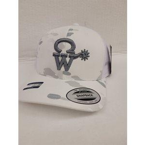 CASQUETTE CW WHITE ARMEE LOGO GRIS